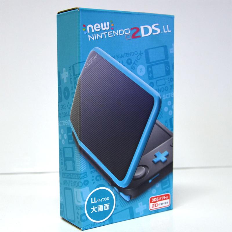 เครื่องรุ่นใหม่ New2DS LL ญี่ปุ่น สีดำ-น้ำเงิน New Nintendo 2DS LL (Black x Turquoise) ราคา 5990.- ส่งฟรี