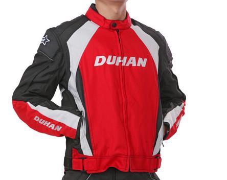 ชุดขี่มอเตอร์ไซค์ เสื้อแจ็คเก็ต เสื้อการ์ดอ่อน DUHAN D-089 ไซส์ L สีแดง