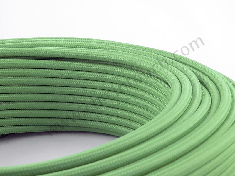 สายไฟวินเทจถัก สีเขียว(Lime Green)