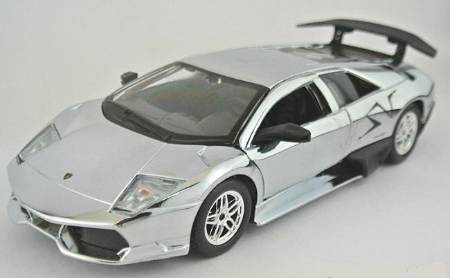 ขาย พรีออเดอร์ โมเดลรถเหล็ก โมเดลรถยนต์ Lamborghini LP670-4 สีเงิน 1:24 มี โปรโมชั่น