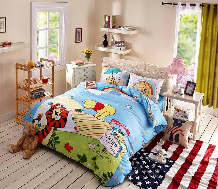 ผ้าปูที่นอน ลายหมีพูห์ Pooh Bedding Set