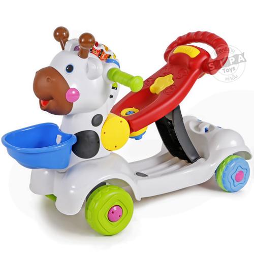 รถผลักเดิน(ปรับหนืดได้)+รถขาไถ+สกู๊ตเตอร์ 3 in 1( Baby Ride-on Deer 3 In 1)