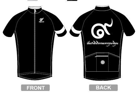 เสื้อปั่นจักรยานสีดำ A01 & A02