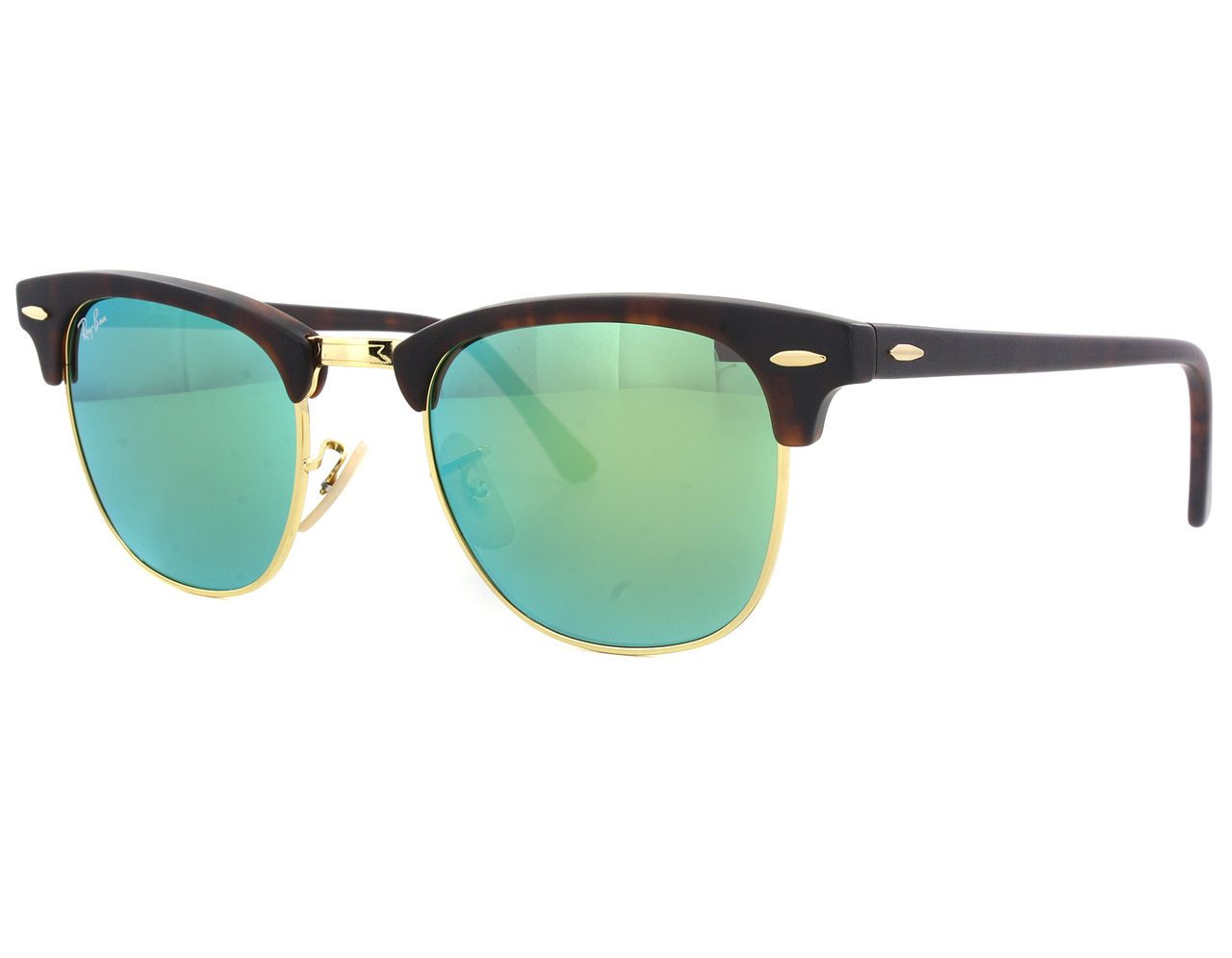 RayBan RB3016 1145/19 Clubmaster Green mirror 51MM