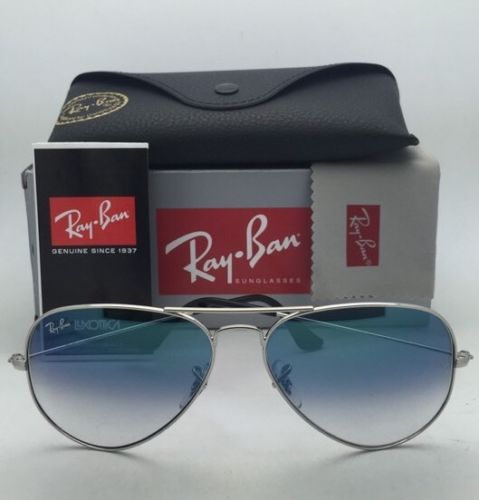 Ray Ban Aviator RB3025 003/3F Silver Frame Blue Gradient