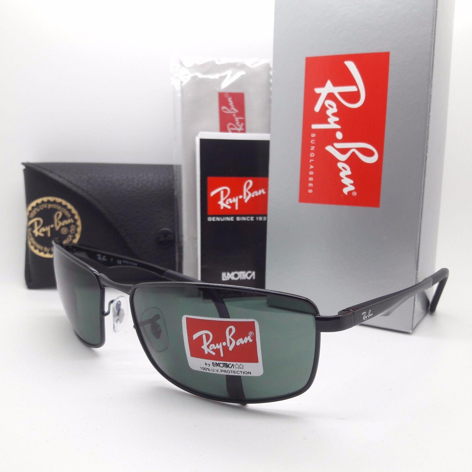 Ray Ban RB3498 002/71 Black Green G15