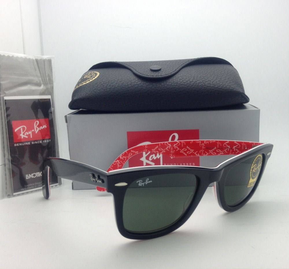 Ray Ban RB2140F 1016 Red Texture Wayfarer