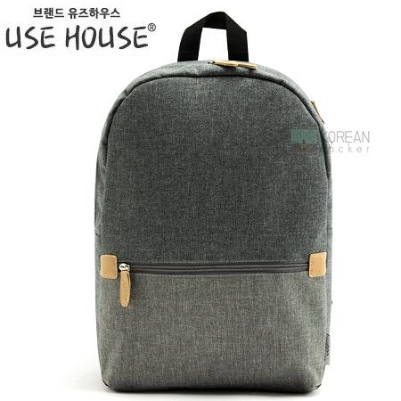 USE HOUSE กระเป๋าเป้ พรีเมียม BA054 สีเทา พร้อมส่ง