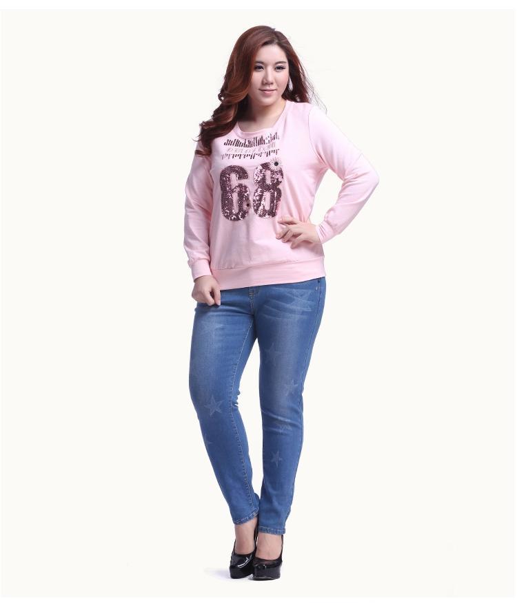 **พรีออเดอร์** เสื้้อยืดแฟชั่นเกาหลีใหม่ แขนยาว น่ารักสำหรับผู้หญิงไซต์ใหญ่ / **Preorder** New Korean Fashion Long-Sleeved for Large Size Woman T-Shirt