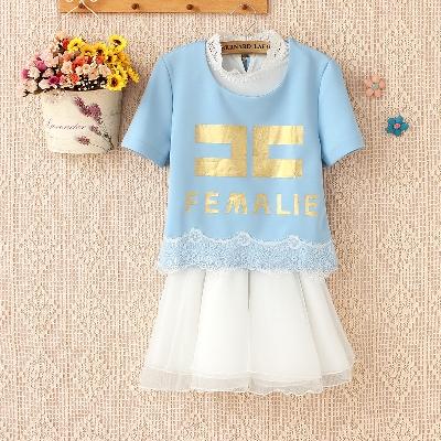 [พรีออเดอร์] ชุดเดรสผู้หญิงแฟชั่นเกาหลีใหม่ แขนสั้น ลูกไม้ แบบเก๋ เท่ห์ - [Preorder] New Korean Fashion Slim Round Neck Lace Short-sleeved Dress