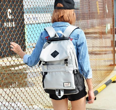 กระเป๋าเป้แฟชั่น MCJH MIKE DESIGNS (สีเทา)