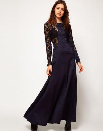 **พรีออเดอร์** ชุดเดรสผู้หญิงแฟชั่นยุโรปใหม่ แขนยาว ลูกไม้ แบบเก๋ เท่ห์ / **Preorder** New European Hollow Lace Stitching Fashion Slim Sexy Dress