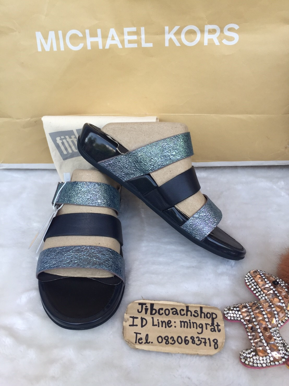 Fitflop Thai Leather Sandals Slide Gladdie™ SupernavyPchome xsCQrdthB
