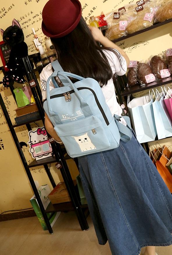 กระเป๋าเป้ Japan chic (กระเป๋าเป้สไตล์ญี่ปุ่น) สีฟ้า