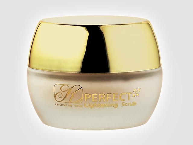 Kristine Ko-Kool Gold Perfect Lightening Scrub (คริสติน โค คูล โกลด์ เพอร์เฟค ไลท์เทนนิ่ง สครับ) ครีมขัดทำความสะอาดผิวหน้า เหมาะกับทุกสภาพผิว