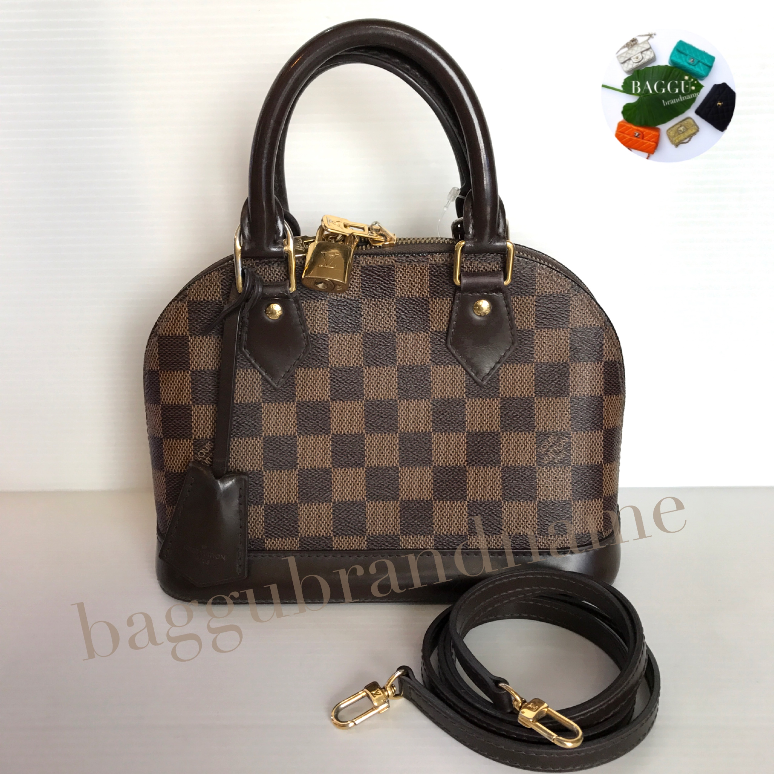 (SOLD OUT)LOUISVUITTON damier ebene alma bb ปี 13