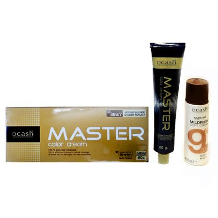 ดีแคช โปรเฟสชั่นนอล มาสเตอร์ คัลเลอร์ ครีม GE 888/7 บลอนด์เข้มประกายทองจัด (Intense Blonde Golden Reflect) 60 ml.+60 ml.