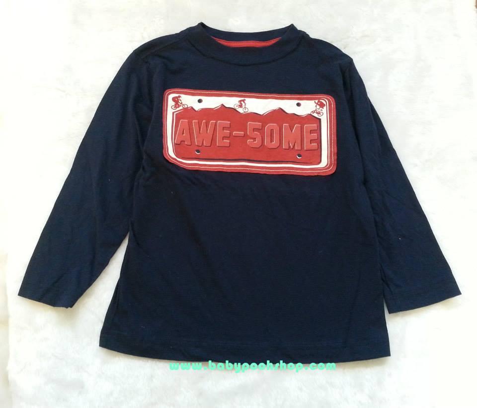 เสื้อยืดสกรีนลาย AWE-5OME