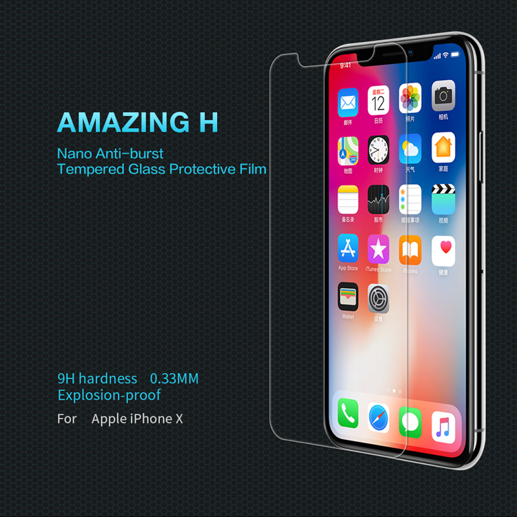 ฟิล์มกระจกนิรภัย Apple iPhone X