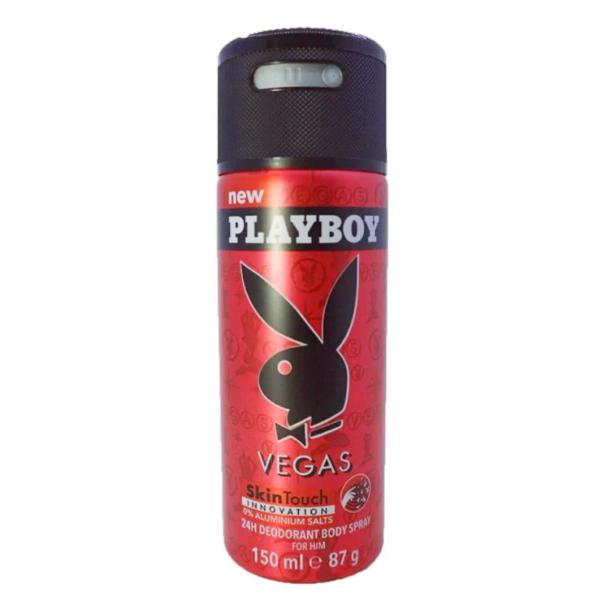 เพลย์บอย เวย์กัส ดิโอแรนท์ บอดี้เสปรย์ สเปรย์ระงับกลิ่นกาย 150มล. (Playboy Vegas Deodorant Body Spray 150ml)