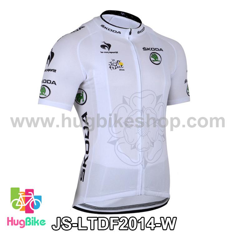 เสื้อจักรยานแขนสั้นทีม Le tour de france 2014 สีขาว สั่งจอง (Pre-order)