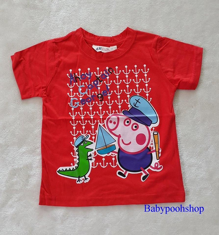 เสื้อยืด ลาย peppa pig สีแดง