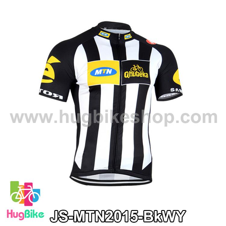 เสื้อจักรยานแขนสั้นทีม MTN 2015 สีดำขาวเหลือง สั่งจอง (Pre-order)