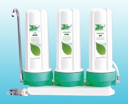 เครื่องกรองน้ำ 3 ขั้นตอน Unipure (Green)