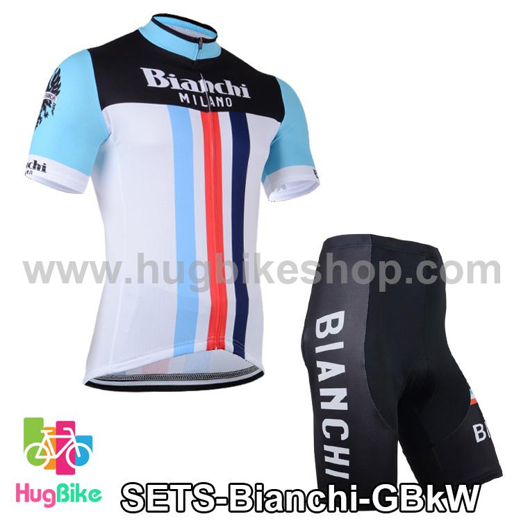 ชุดจักรยานแขนสั้นทีม Bianchi 14 (03) สีเขียวดำขาว สั่งจอง (Pre-order)