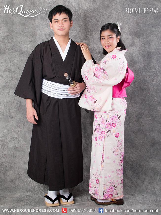 เช่าชุดแฟนซี &#x2665 ชุดญี่ปุ่น กิโมโน - คู่