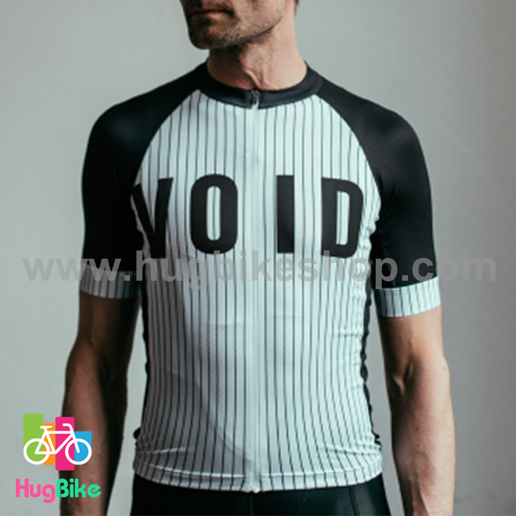 เสื้อจักรยานแขนสั้นทีม VOID 16 (02) สีขาวดำ สั่งจอง (Pre-order)