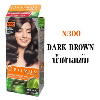 ดีแคช ออพติมัส คัลเลอร์ ครีม Optimus color Cream N300 Dark Brown น้ำตาลเข้ม 100 ml.