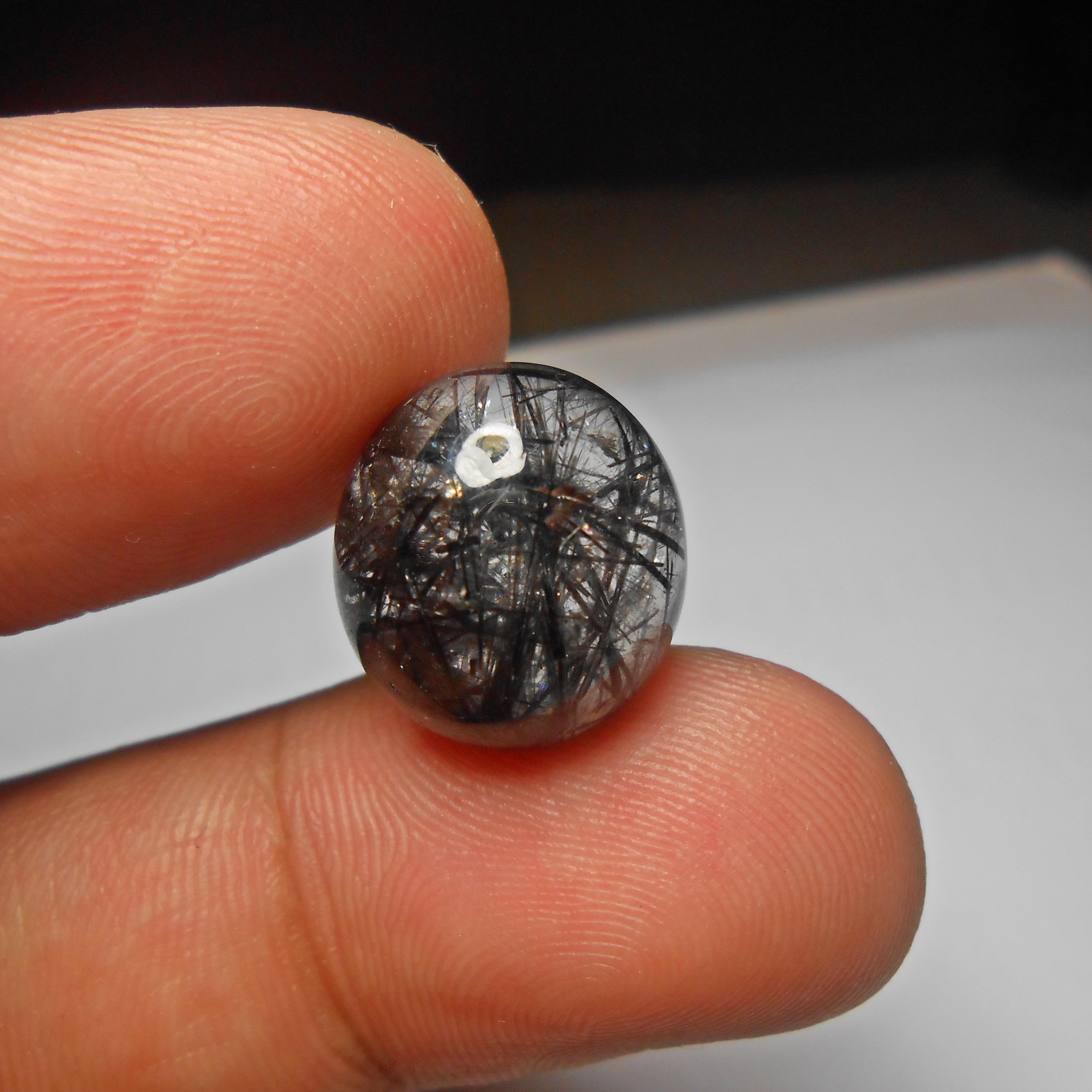 แก้วขนเหล็ก เส้นคมแกร่ง น้ำใส สวยงาม ขนาด 1.6x 1.3 cm ทำหัวแหวนงามๆ