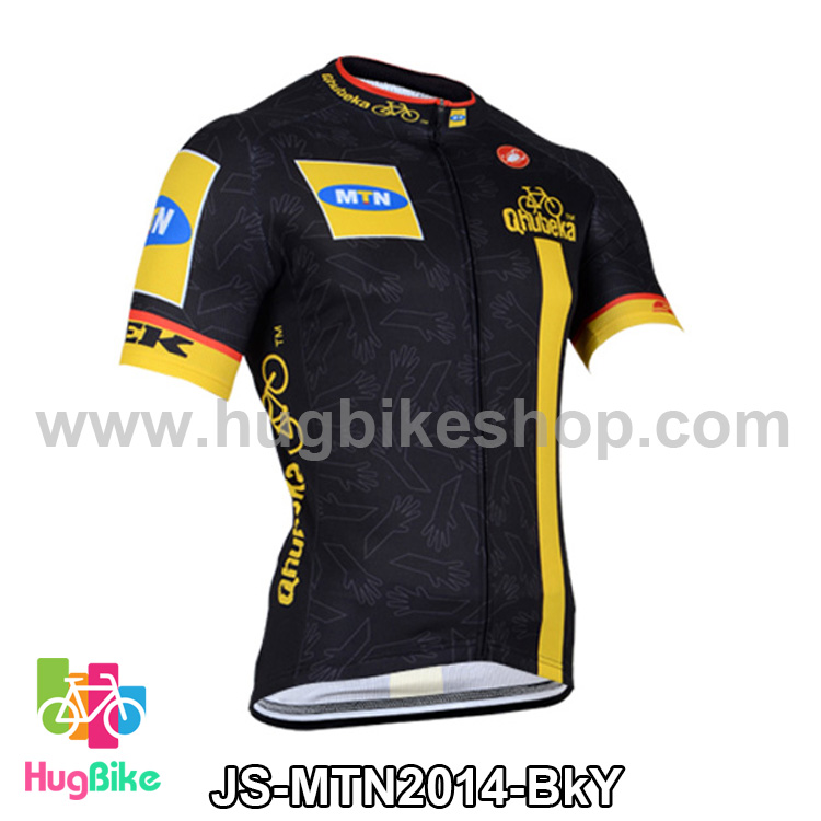 เสื้อจักรยานแขนสั้นทีม MTN 2014 สีดำเหลือง สั่งจอง (Pre-order)