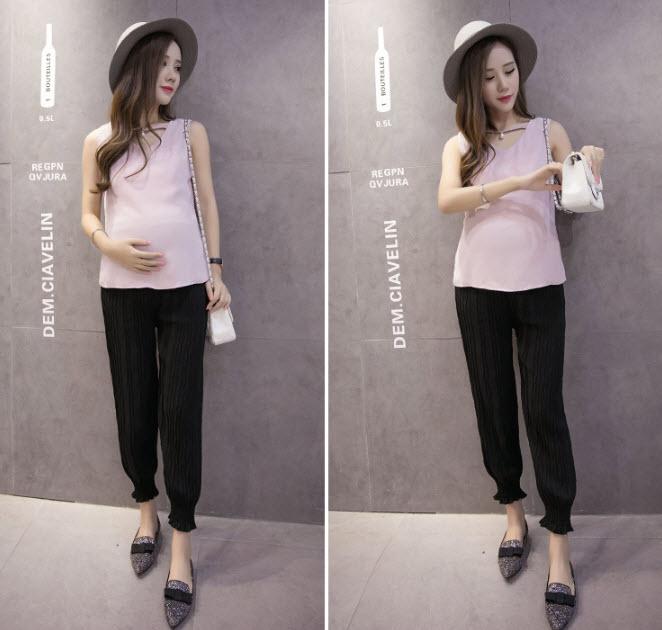กางเกงพลีตคนท้อง