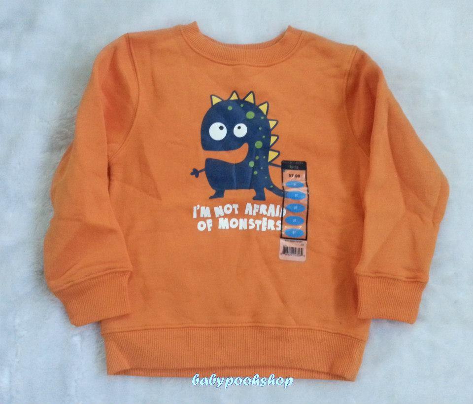 **Falls Creek Kids** เสื้อกันหนาวสีส้ม ลาย Monster size 3T ( T=ปี)