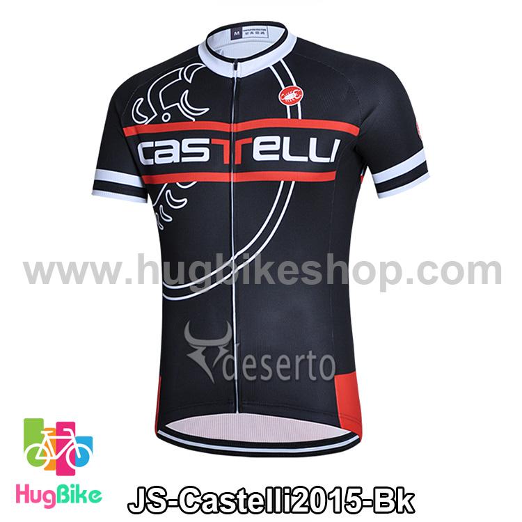 เสื้อจักรยานแขนสั้นทีม Castelli 2015 สีดำ สั่งจอง (Pre-order)
