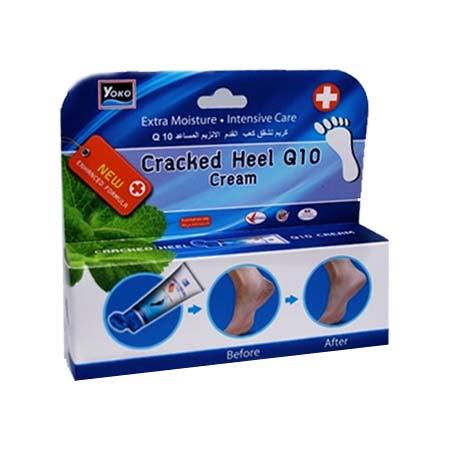 Yoko Crackeed Heel Q10 Cream / โยโกะ แคร็กฮึล คิวเท็น ครีม ครีมบำรุงผิวส้นเท้า 50 กรัม