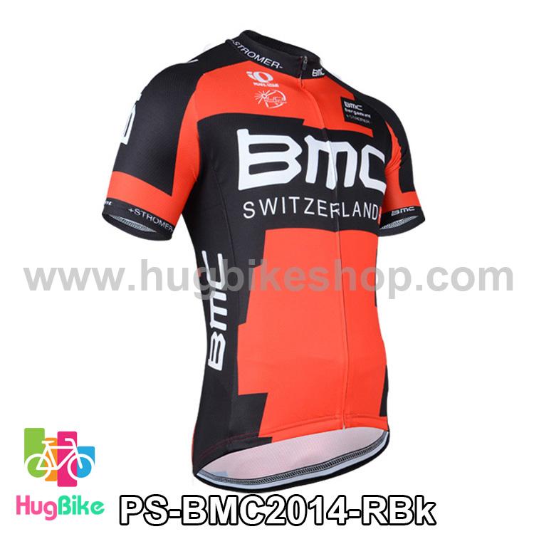 เสื้อจักรยานแขนสั้นทีม BMC 2014 สีดำแดง สั่งจอง (Pre-order)