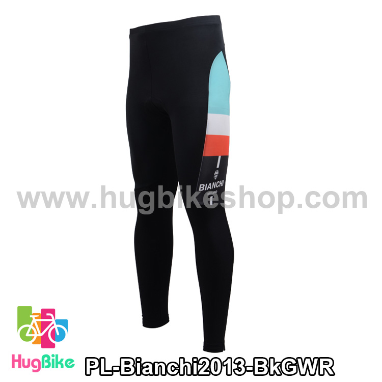 กางเกงจักรยานขายาวทีม Bianchi 13 สีดำเขียวขาวแดง สั่งจอง (Pre-order)