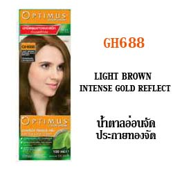 ดีแคช ออพติมัส คัลเลอร์ ครีม Optimus color Cream GH688 Light Brown Intense Gold Reflect น้ำตาลอ่อนจัดประกายทองจัด 100 ml.