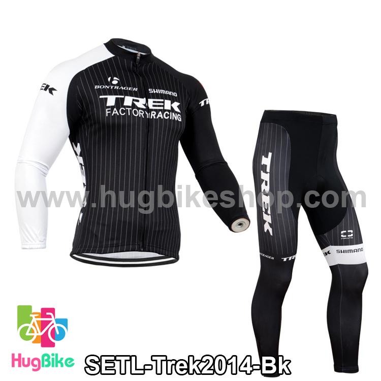 ชุดจักรยานแขนยาวทีม Trek 14 สีดำขาว สั่งจอง (Pre-order)