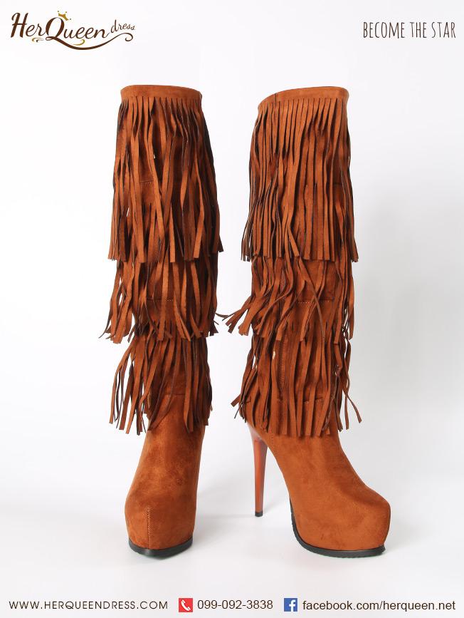 รองเท้าบู๊ทอินเดียแดง