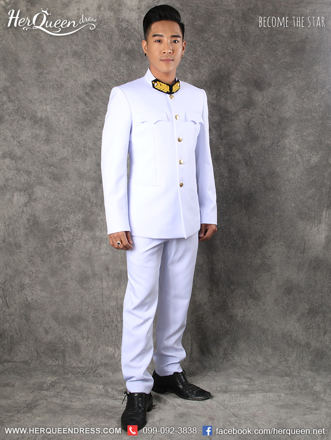 เช่าชุดแฟนซี &#x2665 ชุดขอเฝ้า สีขาว