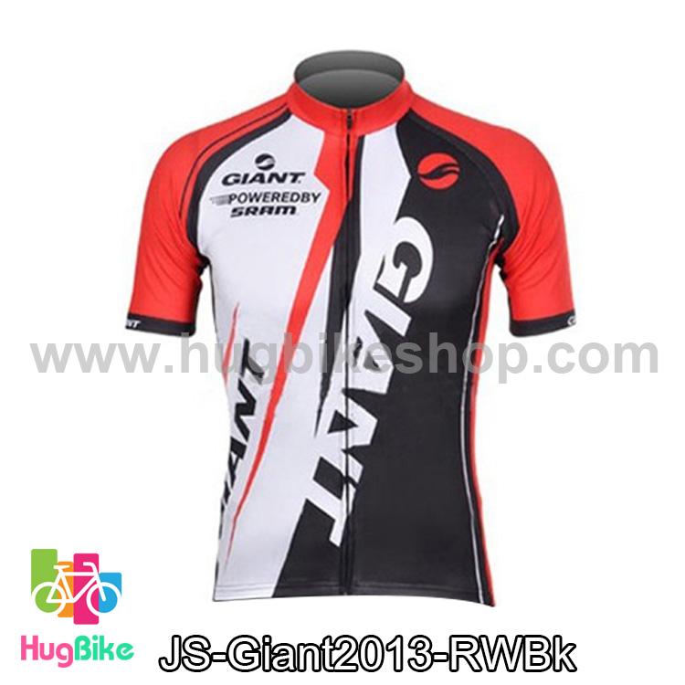 เสื้อจักรยานแขนสั้นทีม Giant 2013 สีแดงขาวดำ สั่งจอง (Pre-order)