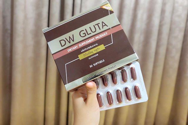 DW GLUTA ดีดับเบิ้ลยู กลูต้า กลูต้าหน้าเด็ก (แพคเกจใหม่) พัฒนาสูตรขาวไวกว่าเก่า 2เท่า