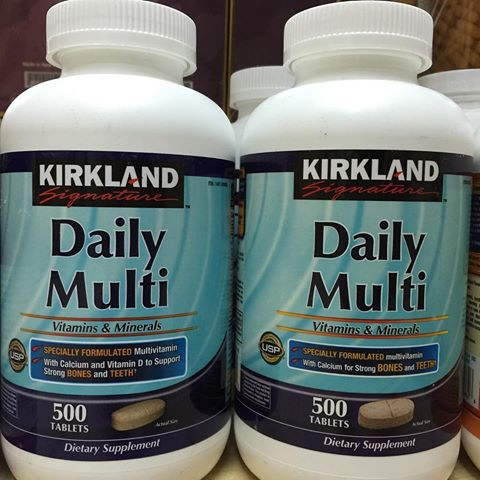 Kirkland Daily Multivitamin : 500 เม็ด วิตามินรวมสารอาหาร