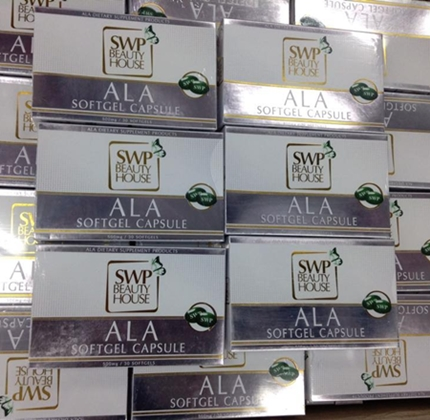 ALA SWP Softgel capsule dietary supplement product