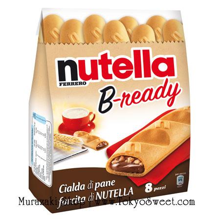 พร้อมส่ง [สินค้านำเข้าจากฝรั่งเศส] ** Ferrero Nutella B-ready เวเฟอร์อบกรอบรูปขนมปังฝรั่งเศสสอดไส้นูเทลล่า บรรจุ 8 ชิ้น