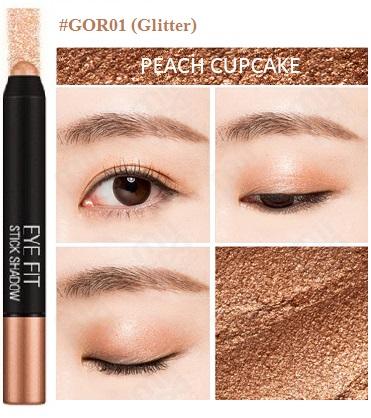 ++พร้อมส่ง++Missha Eye Fit Shadow 1.3g สี GOR01 อายแชโดร์เนื้อผสมกิตเตอร์ นุ่ม สีสวย ติดทนนาน ใช้ง่าย พกพาสะดวก